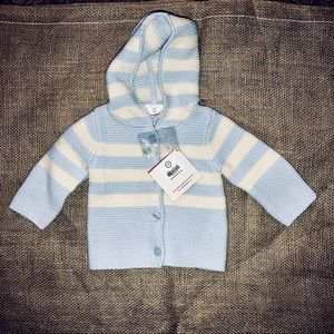 NWT Hanna Andersson infant Sz 0-3M sweater cardi!